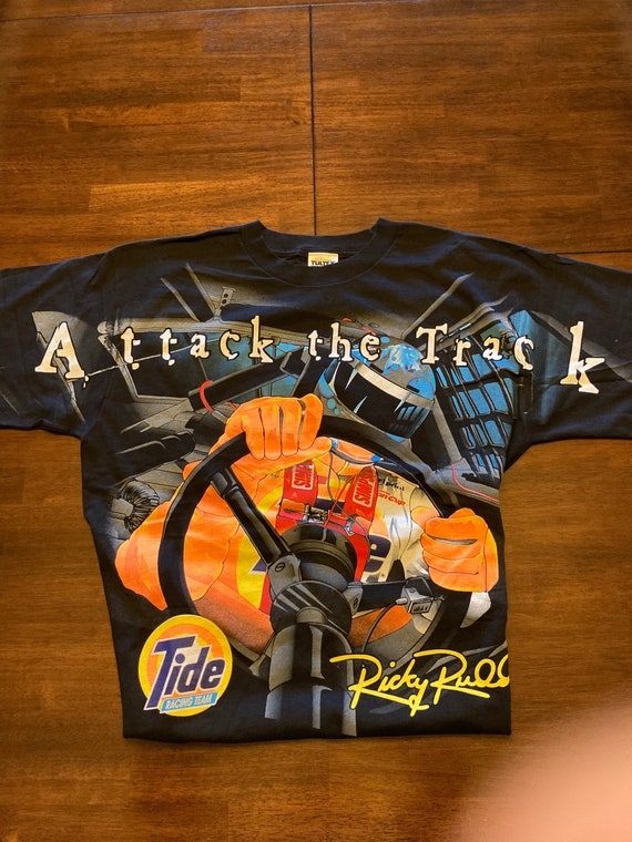 Vintage Ricky Rudd Attack The Track Tee