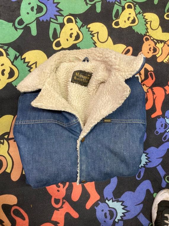 Vintage Maverick Sherpa Denim Jacket