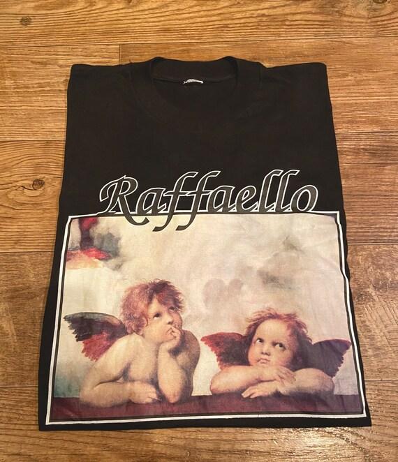 Vintage 80's Raffaello Sistine Cherbus Angel Art T