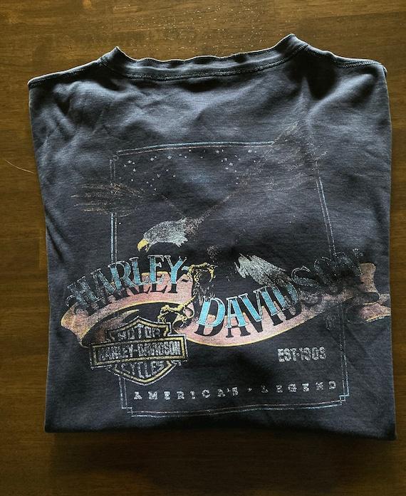 1987 3D Emblem Harley-Davidson Long Sleeve