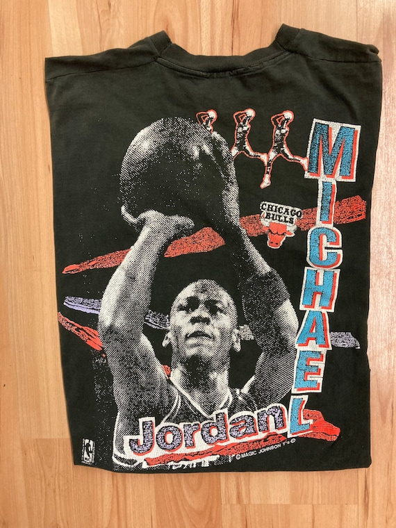 Vintage Magic Johnson Michael Jordan Tee