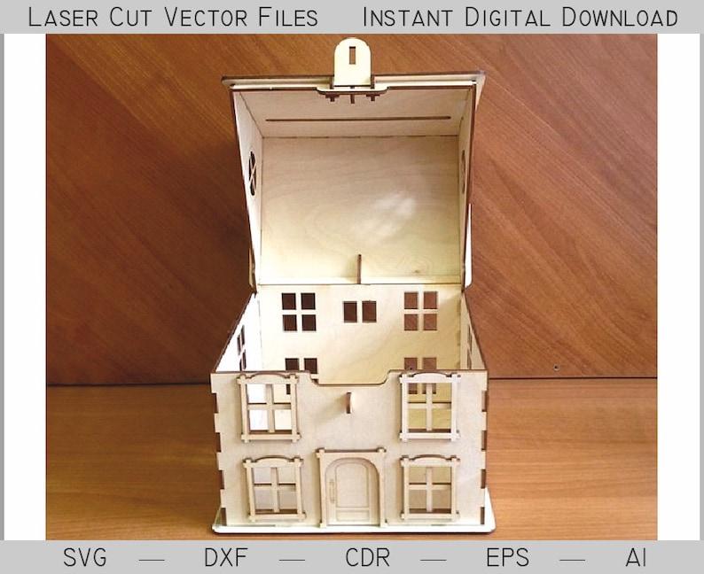 Download Piggy for Money. Laser cut file SVG DXF cnc files lasercut ...