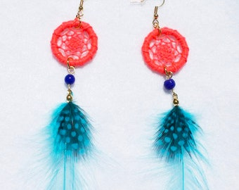 20pcs Rooster Feathers Pendant Earrings Jewelry Millinery Saddle Costume Drea...