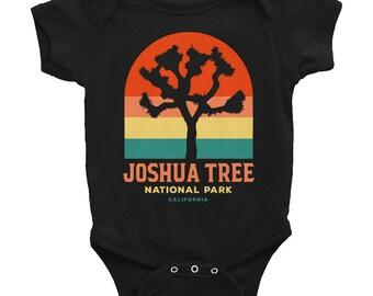 Vintage Baby Joshua Tree National Park California Infant Black Onesie