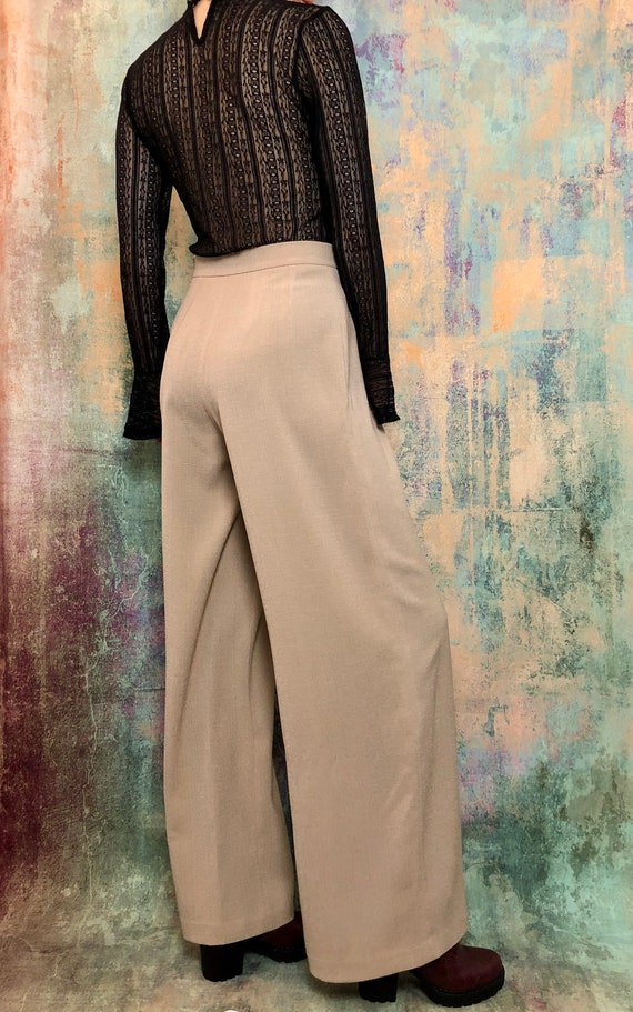 Beige Wide Pants, Beige Pants, Office Pants, Hight