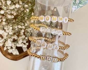 14k Gold Filled Bracelet | 4mm Gold Bracelet | Stack Bracelet | Custom Name Bracelet | Name Bracelet| Gold Word Bracelet | Initial Bracelet
