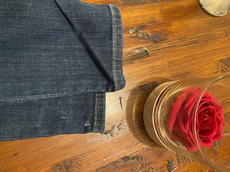 Scotch /& Soda jeans \u201cLA bohemienne mid rise skinny\u201d jeans 28-32 Dark Distressed Denim Made in Italy MSRP 177
