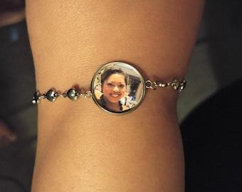Custom Photo Bracelet, Photo Charm Bracelet, Picture Bracelet, Customized Photo Bracelet, Personalized Bracelet, Pendant, Charm, STAINLESS