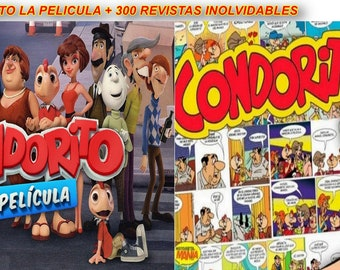 C o n d o r i t o Coleccion DVD Inolvidable De COMICS 300 Revistas + C o n d o r i t o La Pelicula