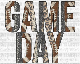 Game Day, Ready to Press, Sublimation Transfer, Sublimation Print, Heat Transfer, Sports Sublimation, Football Brushstroke