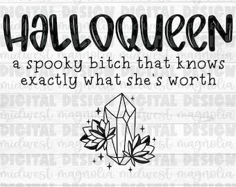 Halloween PNG, Sublimation PNG, PNG Digital Download, Spooky Png, Waterslide Png, Digital Design, Printable File, Halloqueen, Spooky Bitch