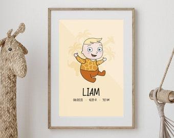 Custom Baby birth poster.