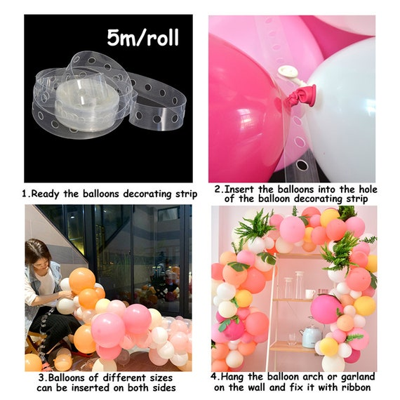 182pcs double Maca hot pink balloon garland baby pink rose 4D balloon arch kit Wedding /& Engagement birthday party bridal shower decoration