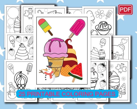Ice cream coloring pages-25 Printable Ice cream Coloring Pages