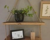 Handmade Rustic Shelfs with Rope