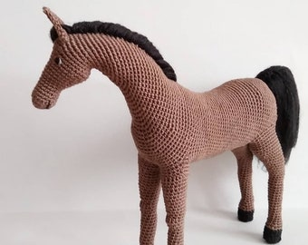 Horse Amigurumi Crochet Pattern + Tutorial - Advanced Crochet | 270x340