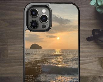 Sunset Beach Cornwall Trebarwith Beautiful Sea Landscape - Phone Case for iPhone 7 8 Plus SE X XR XS Max 11 Pro Max 12 Mini