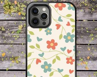 Floral Pattern Flower Design - Phone Case for iPhone 7 8 Plus SE X XR XS Max 11 Pro Max 12 Mini