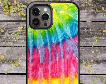 Tie Dye Pattern Multicolour Hippie Spiral Design - Phone Case for iPhone 7 8 Plus SE X XR XS Max 11 Pro Max 12 Mini