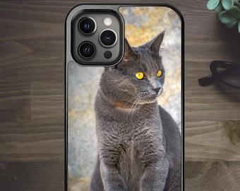 Russian Blue Cat - Phone Case for iPhone 7 8 Plus SE X XR XS Max 11 Pro Max 12 Mini