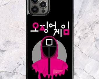 Squid Game Square Manager Korean - iPhone Case for 13 12 11 Pro Max SE XS XR X 7 8