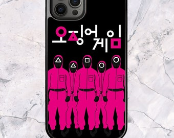 Squid Game Manager Soldier Worker Squad Korean - iPhone Case for 13 12 11 Pro Max SE XS XR X 7 8