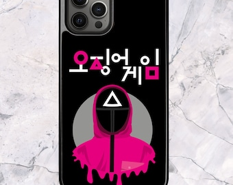 Squid Game Triangle Soldier Korean - iPhone Case for 13 12 11 Pro Max SE XS XR X 7 8