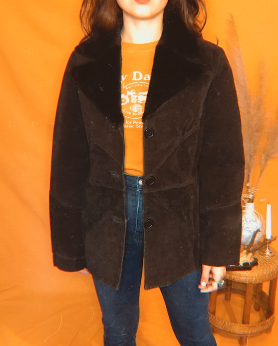 1970s sheepskin suede jacket