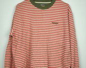 MARIE CLAIRE Vintage Small Spell Stripe Red White Color Jumper Size L