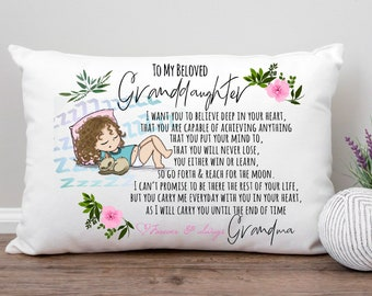 To Granddaughter From Grandma Pillowcase, Birthday Gift For Granddaughter From Grandma, Pillow For Granddaughter From Nana