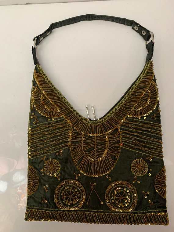 Vintage women's gold beaded, sequinned and embroid
