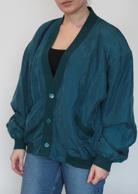 Vintage 80s 90s silk bomber Jacket