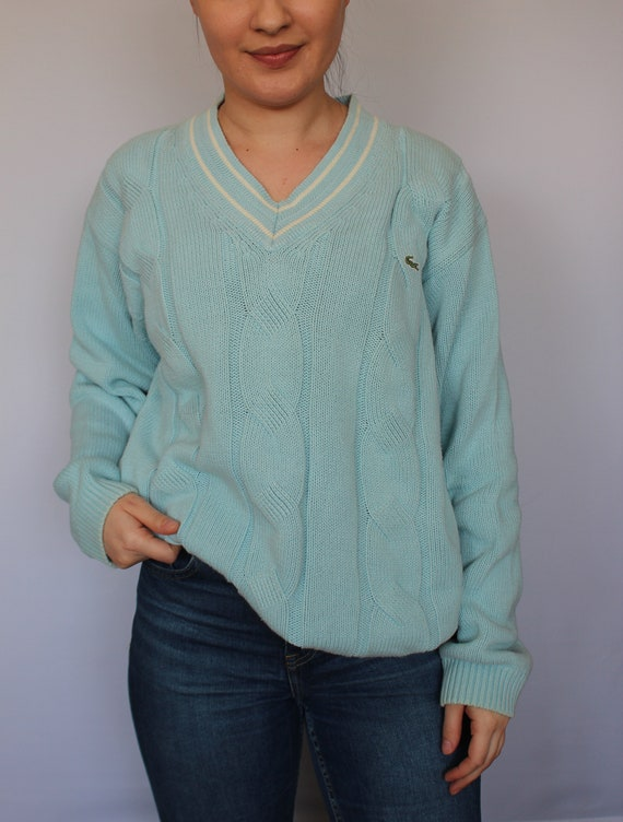 Lacoste 80s 90s Vintage Cardigan Pullover Oversize