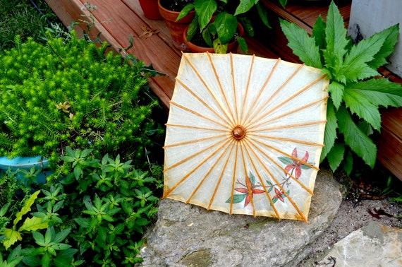 Vintage Hand Painted Parasol