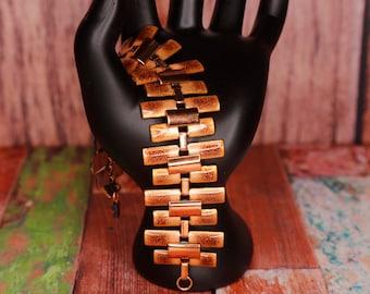 Vintage Matisse Enameled Copper Bracelet