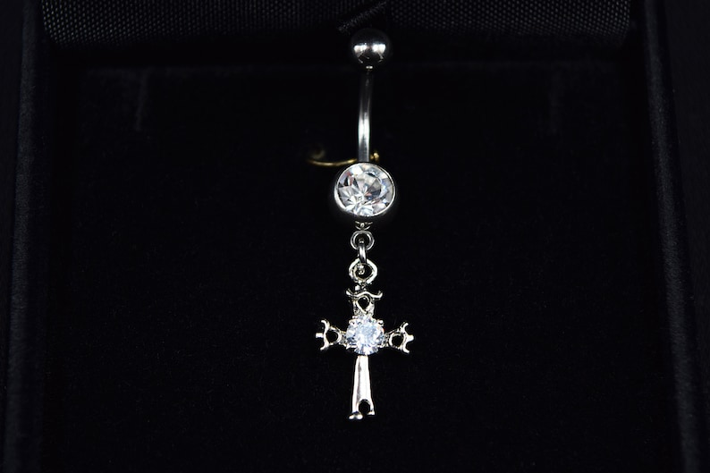 belly button ring Cross