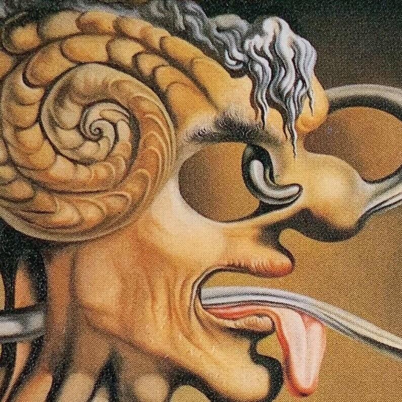 Salvador Dali /'Portrait of Picasso/' Painted 1947 1992 Original Postcard Print
