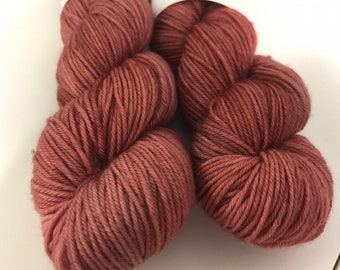 Dusty Rose Hand Dyed DK Weight Yarn