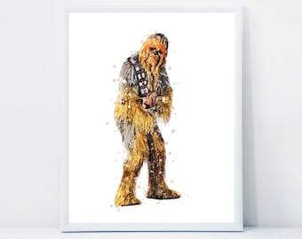 Star Wars Chewbacca INSTANT DOWNLOAD Printable Art Star Wars Chewbacca Poster Nursery Kids Room Decor Star Wars Chewbacca Wall Prints 3541d