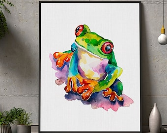 Frog Wall Art Etsy