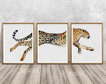 Big Cat Collage Tiger Lion Cheetah Leopard Lynx Wall Picture 8x10 Art Print