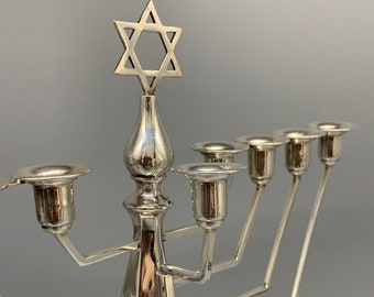 Sterling Silver Hannukah with Shamash made by Alexander Smith in 1956