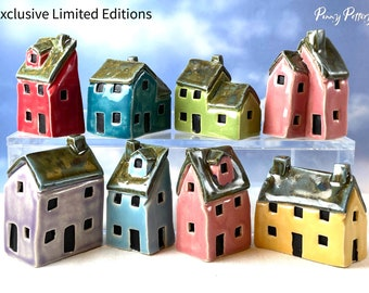 Miniature Ceramic VIP Houses - Exclusive Limited Edition Townhouses, Executive & Extended Homes - Cute Mini Collectables Handmade by Penny.