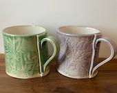 Ceramic Mugs Spring Garden Glaze Range for Coffee & Tea Handmade by Penny