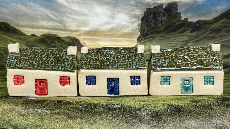 Bothy Double Chimney Rustic Tiles. PennyPottery Original 1220C image 0