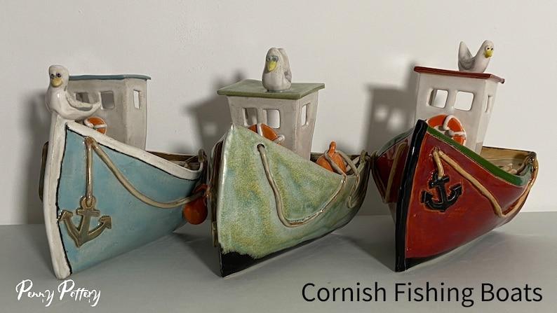 Cornish Fishing Boat  Nautical / Sea Themed  Handmade Glazed image 0
