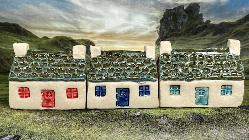 Bothy Double Chimney Scallop Tiles. PennyPottery Original image 0