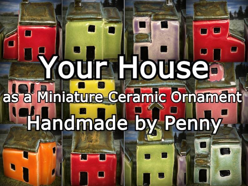 Custom Miniature Ceramic House Caricature. Unique bespoke image 0