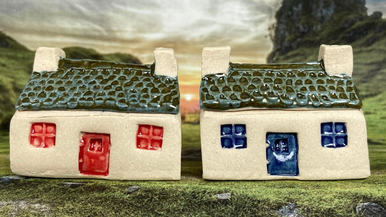 Bothy Double Chimney Small Tiles. PennyPottery Original 1220C image 0