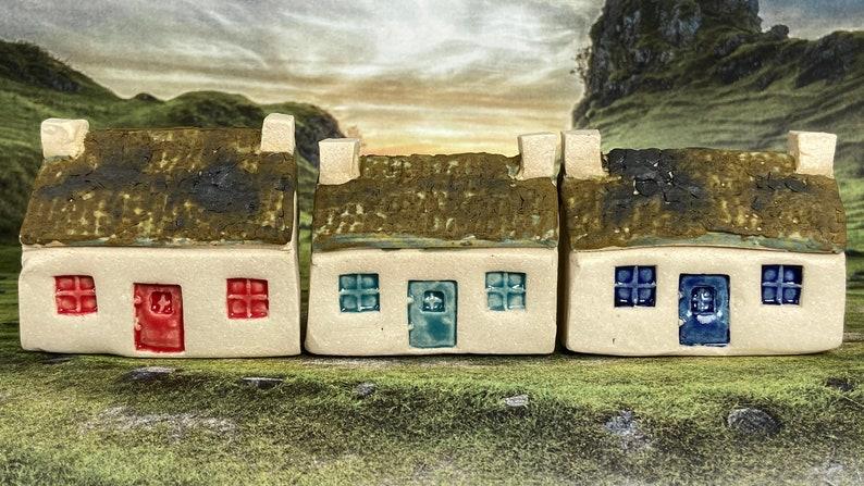 Bothy Double Chimney & Matt Moss Tiles. PennyPottery Original image 0